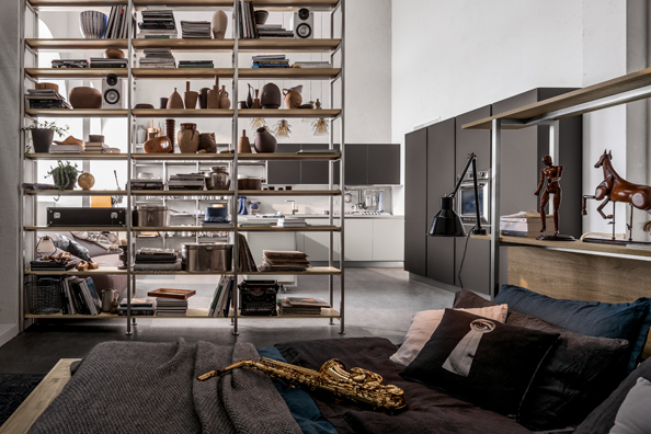 Bibliothèque-design-salon-modern