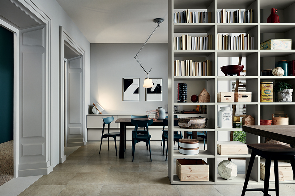 Bibliothèque- meuble-salon-moderne