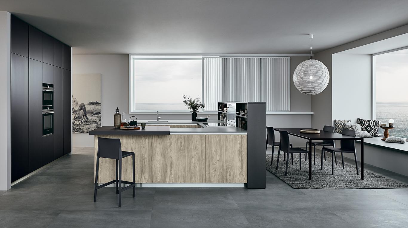 lounge - cuisine en style industriel