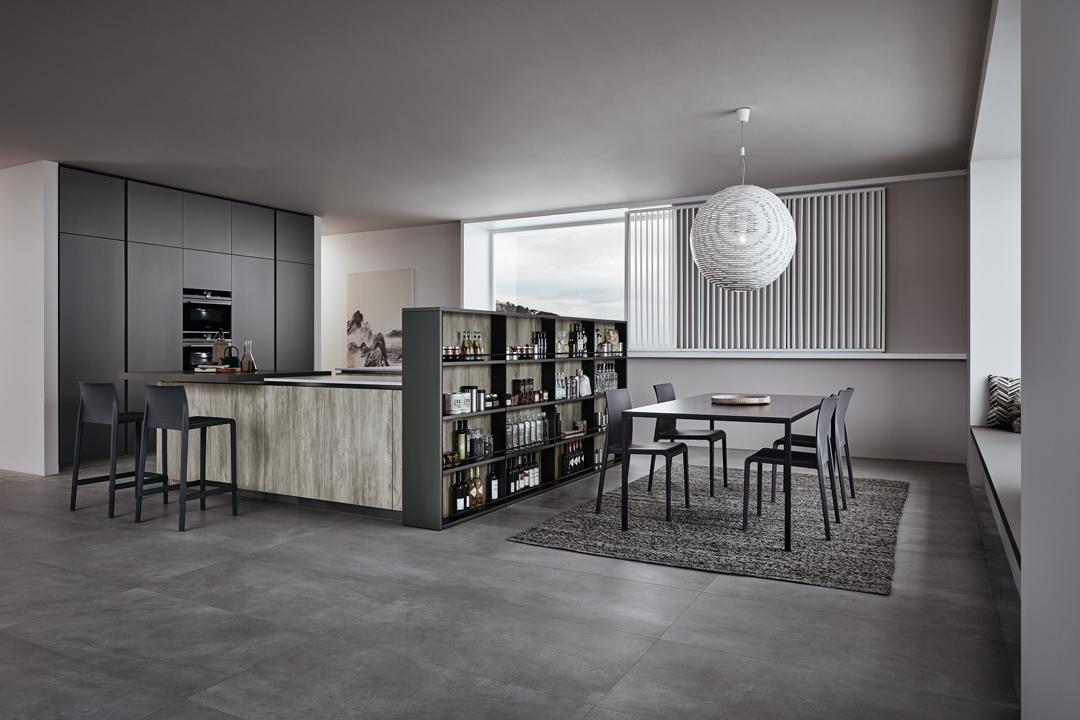 lounge - modéle cuisine en style industriel