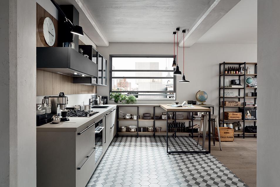 start time - cuisine industril avec table